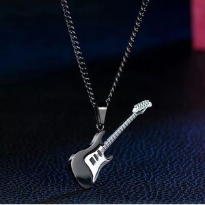 🔲titanium guitar men's Necklace 🔲